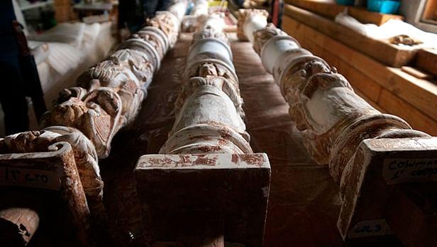 El retablo principal de Nuestra Señora de la Asunción ubicado en el muro testero del templo es de estilo plateresco, con elementos de los estilos renacentista y mudéjar (Foto Cortesía)