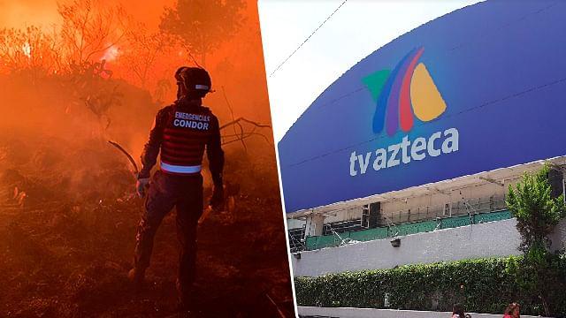 Incendio en reserva natural alcanza instalaciones de TV Azteca
