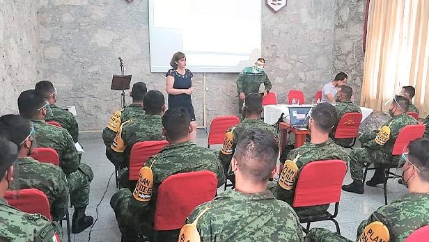 Capacita CEDH Michoacán a militares sobre derechos humanos