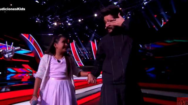 Niña michoacana sorprende en La Voz Kids y hace llorar a Camilo
