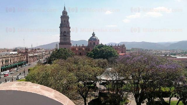 Domingo con temperatura máxima de 26°C en Morelia