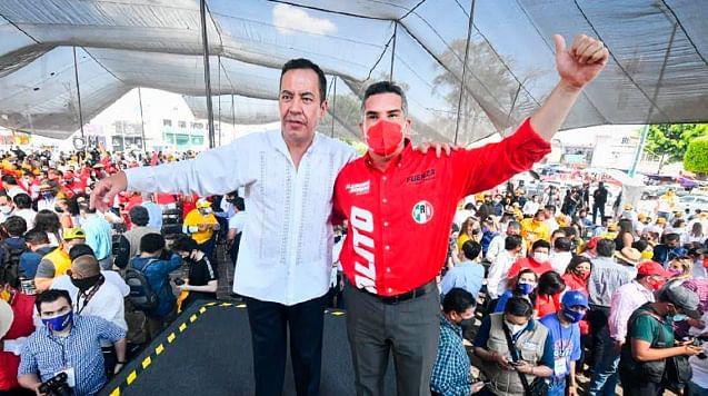 Con nuestro candidato Carlos Herrera vienen mejores tiempos para Michoacán: Alejandro Moreno