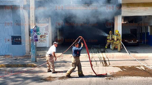 Se registra incendio en Baños de Vapor en la zona centro de Zamora