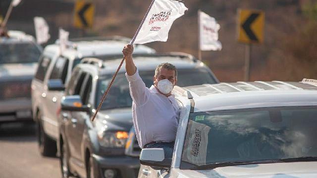 Tuxpan recibe a Raúl Morón en Caravana en Defensa de la Esperanza