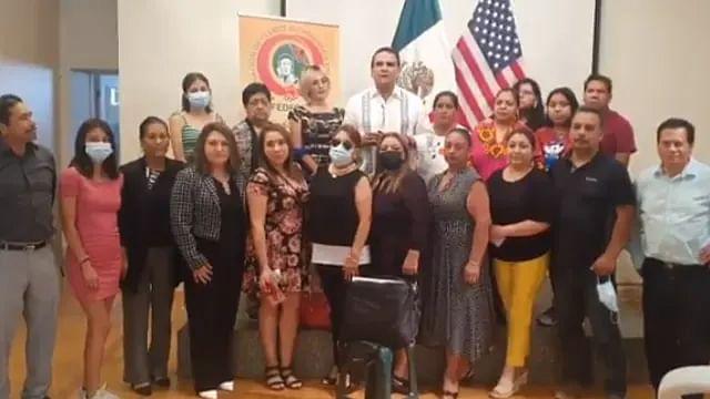 Trabajo de clubes migrantes no debe detenerse: Silvano, en visita a michoacanos