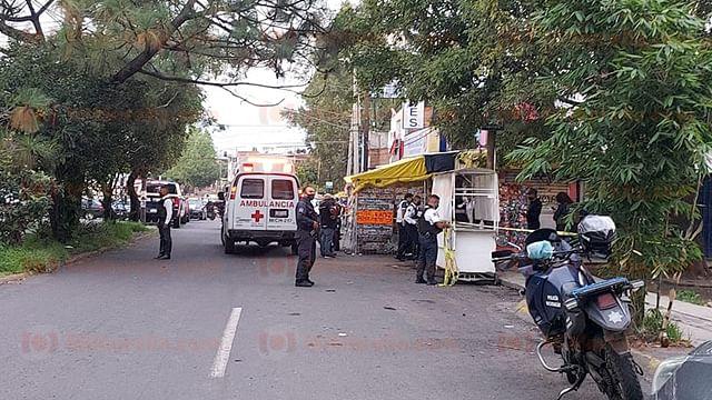Asesinan a comerciante en la avenida Pedregal, en Morelia