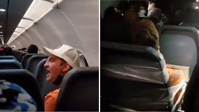 Por agredir a la tripulación, amarran con cinta a pasajero de avión