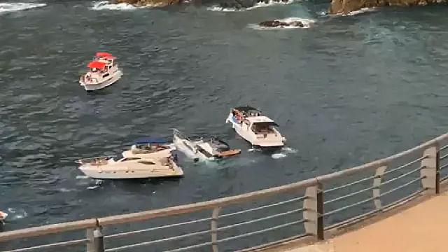 Yate se hunde con todo y turistas a bordo, en Acapulco
