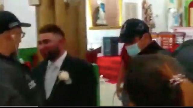 Detienen a narcotraficante en pleno altar cuando estaba a punto de casarse