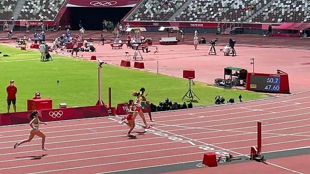 Paola Morán avanza a la semifinal de 400 metros femenil