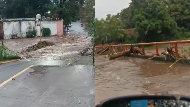 Apatzingán, BAJO EL AGUA; intensas lluvias desbordan el río