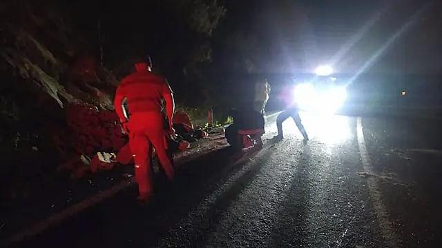 Deslave afecta la circulación en carretera Morelia-Maravatío