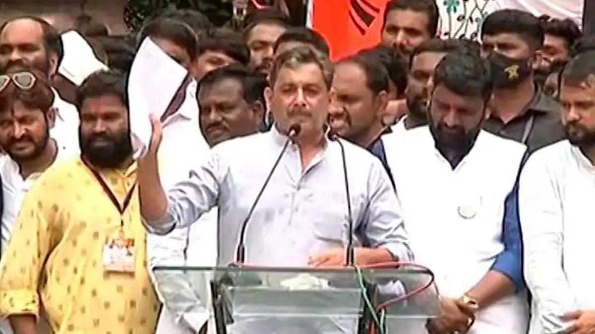नांदेड Maratha Kranti Morcha मधे पालकमंत्री अशोक चव्हाण का नाहीत?-संभाजीराजे