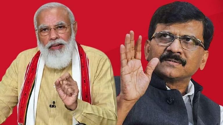 पंतप्रधान नरेंद्र मोदी आणि शिवसेनेचे नेते खासदार संजय राऊत.