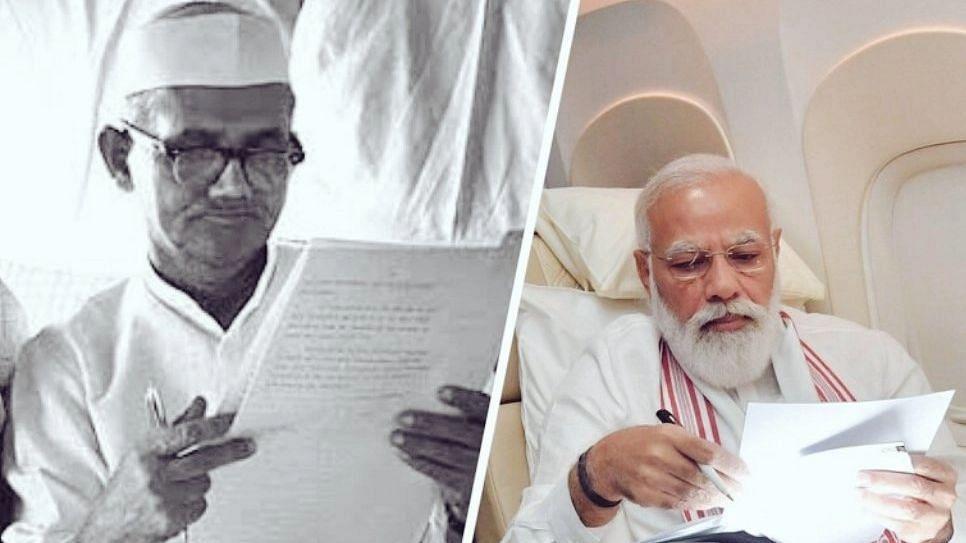 PM Narendra Modi आणि लाल बहाद्दुर शास्त्री यांच्या फोटोंची तुलना का होते आहे?
