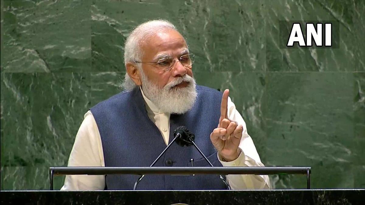 PM Modi UNGA: संयुक्त राष्ट्र महासभेत पंतप्रधान मोदींनी पाकिस्तानला सुनावले खडे बोल