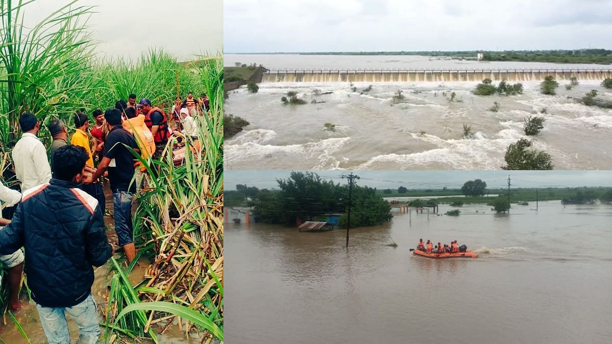 Cyclone Gulab : मराठवाड्यात हाहाकार! नद्यांचा रौद्रवतार, धरणं तुडुंब; मदतकार्याला वेग