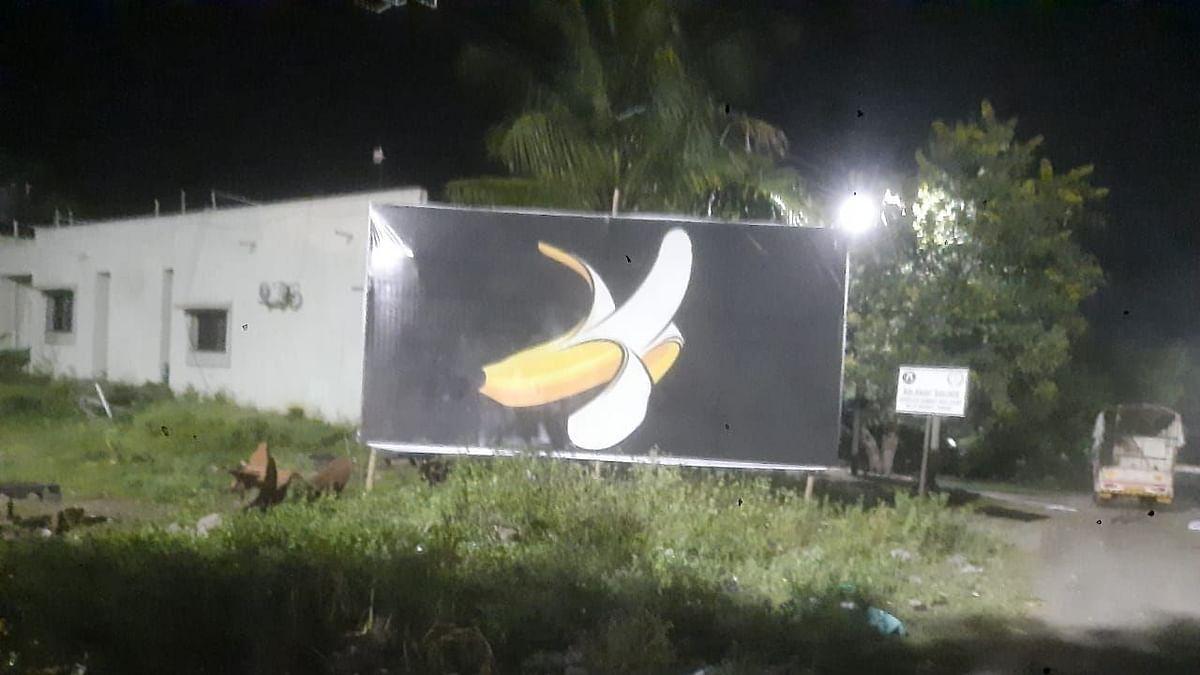 सोमेश्वर साखर कारखाना निवडणूक : नाराज कार्यकर्त्यांनी लावलेल्या केळ्याच्या फ्लेक्सची बारामतीत चर्चा