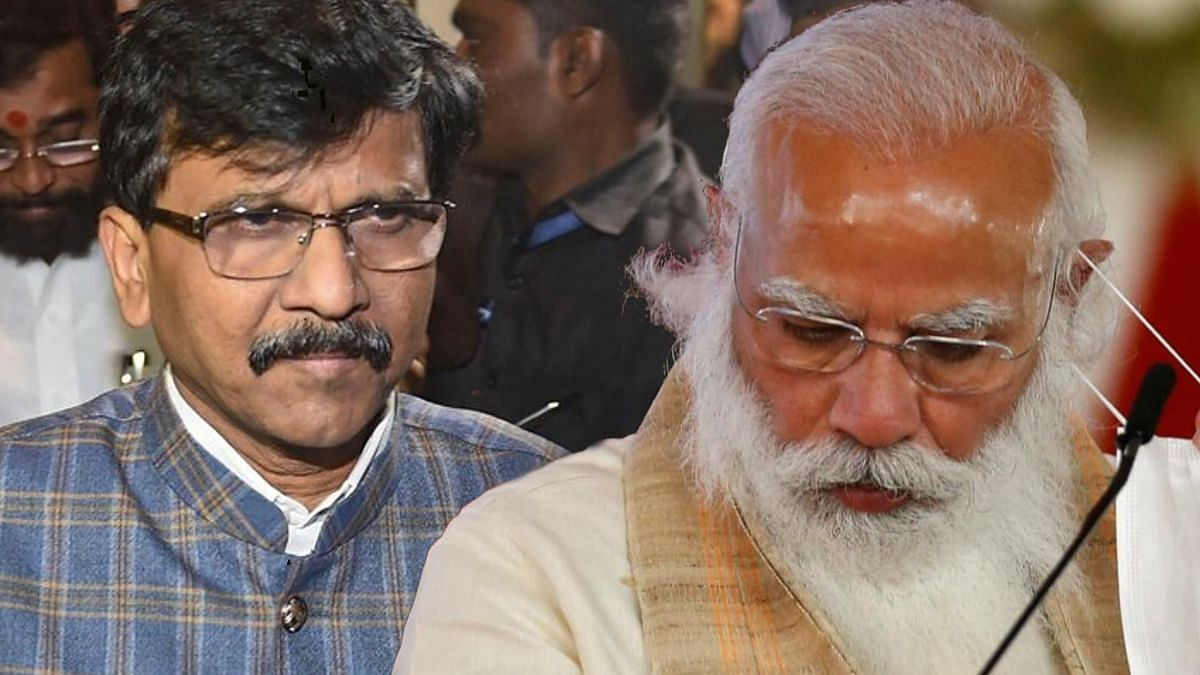 shivsena criticized modi government indian economy grow saamana editorial sanjay raut