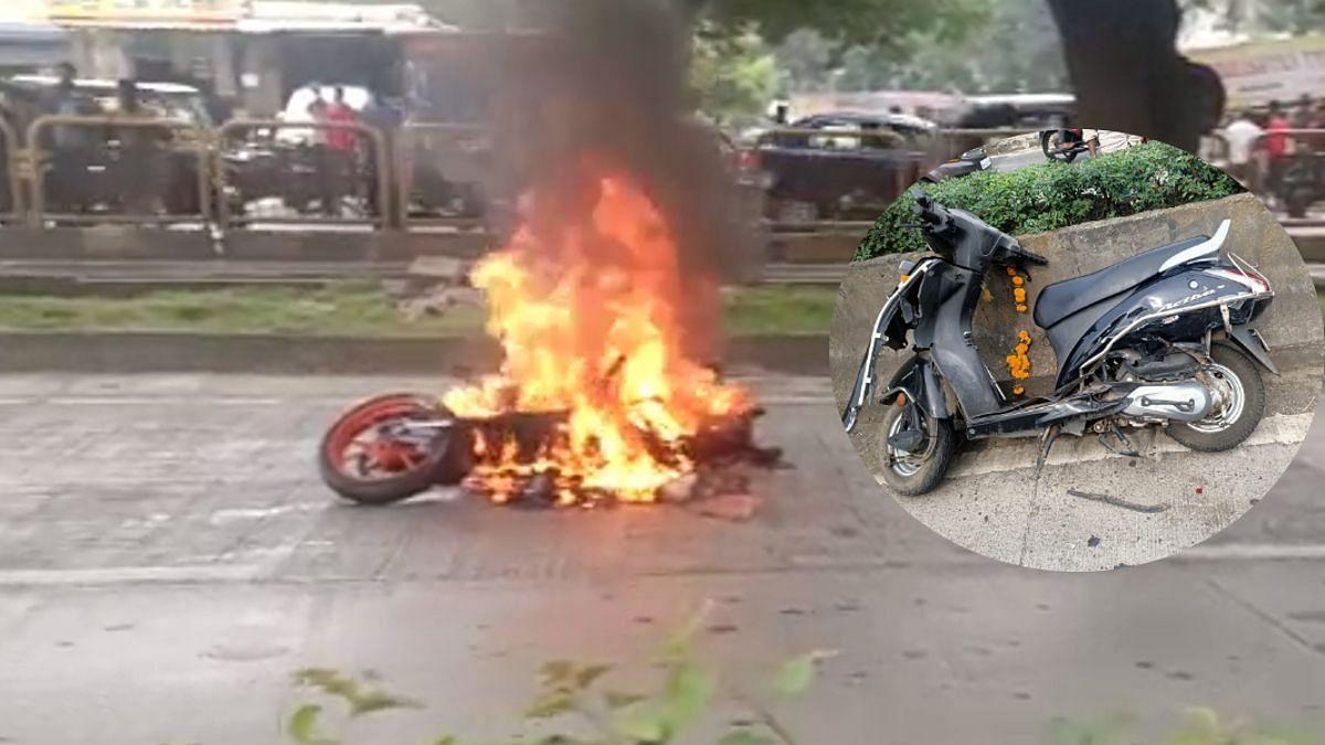 थरकाप उडवणारा अपघात! वेगवान बाईक डिव्हायडरवर आदळली; तरुण-तरुणी जागीच ठार