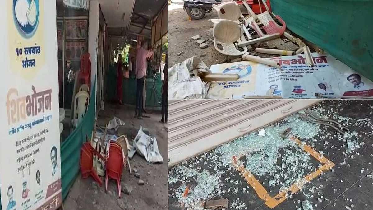 Maharashtra Bandh : 'शिवभोजन थाळी' देणाऱ्या हॉटेलचीच शिवसैनिकांकडून तोडफोड, चंद्रपुरातली घटना
