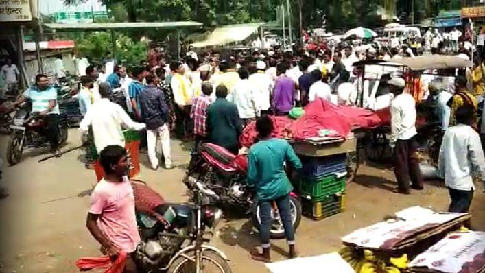 Maharashtra Bandh: 'बंद' करण्यावरून तुफान हाणामारी, महाविकास आघाडी आणि भाजपचे कार्यकर्ते भिडले