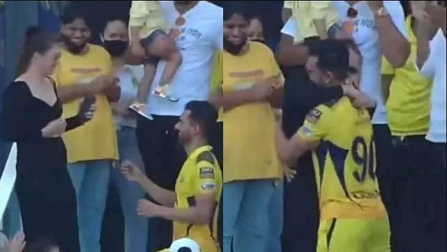 Video : She said Yes ! चेन्नईच्या दीपक चहरने सामना संपल्यावर केलं गर्लफ्रेंडला प्रपोज