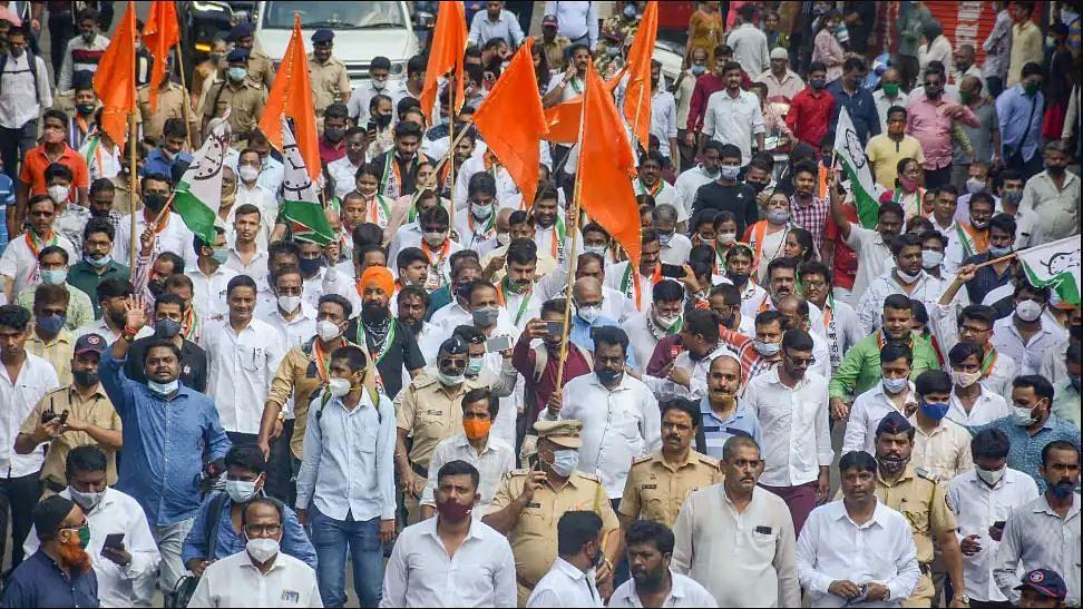 Maharashtra Bandh झाला आता पोलीस कारवाईला सुरुवात, २०० हून अधिक कार्यकर्त्यांवर गुन्हा दाखल