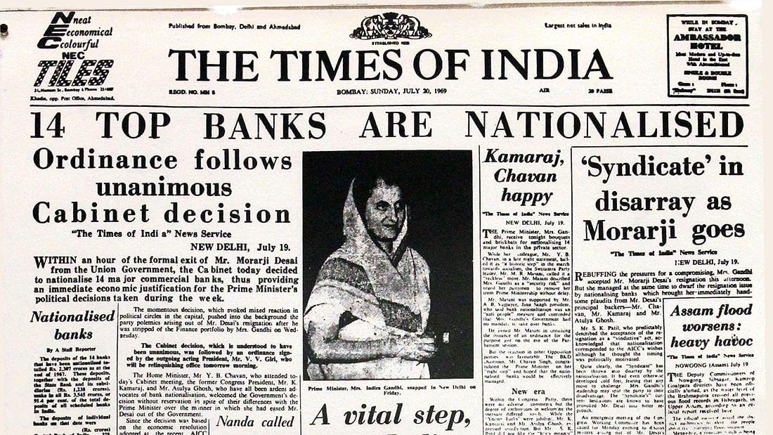 Indira at 100: 18/07/69—Indian banks nationalised, and the moon
