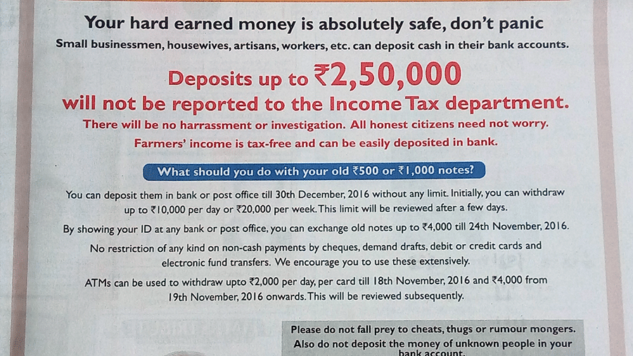 Govt goes back on its word—RBI puts riders to old notes deposits