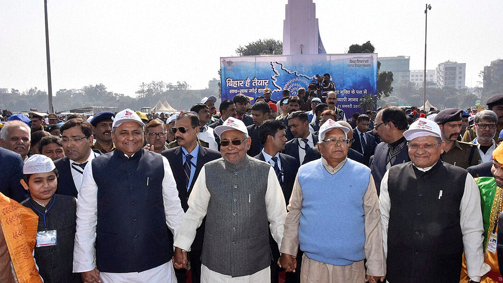 Mixed response to Nitish Kumar's human chain supporting liquor ban