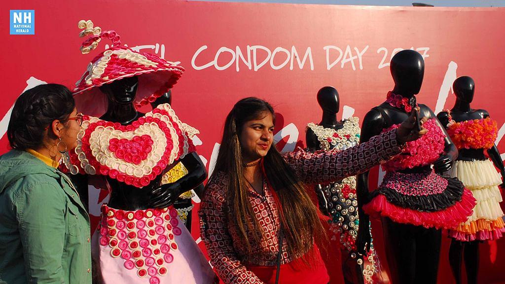 International Condom Day 2017: Condom Fashion Gallery in  Delhi