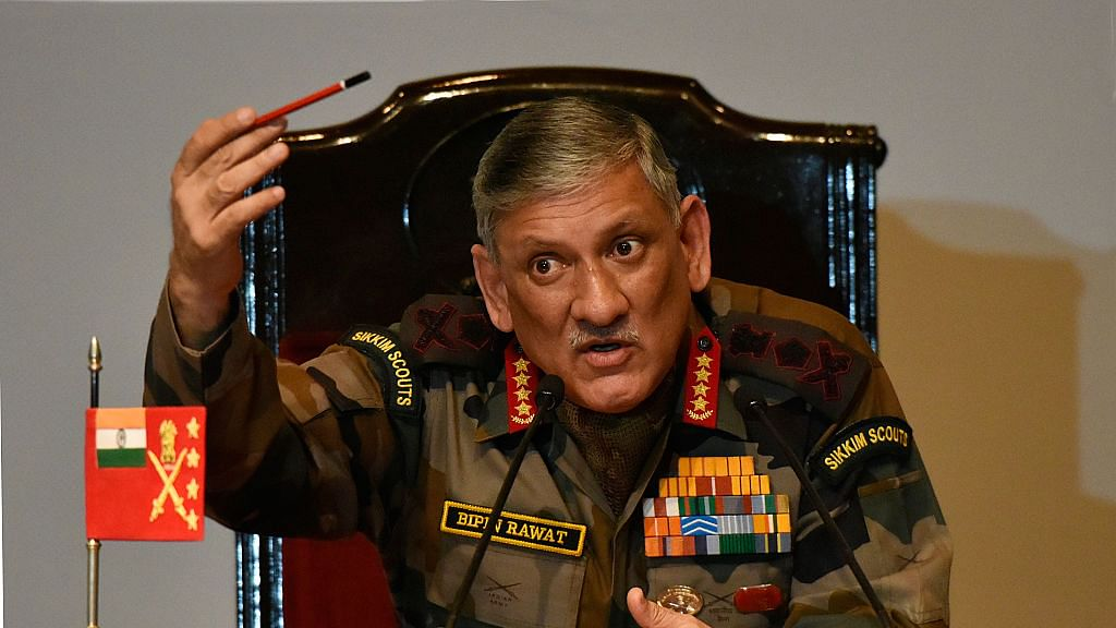 Was it a political or a policy statement by General Rawat?