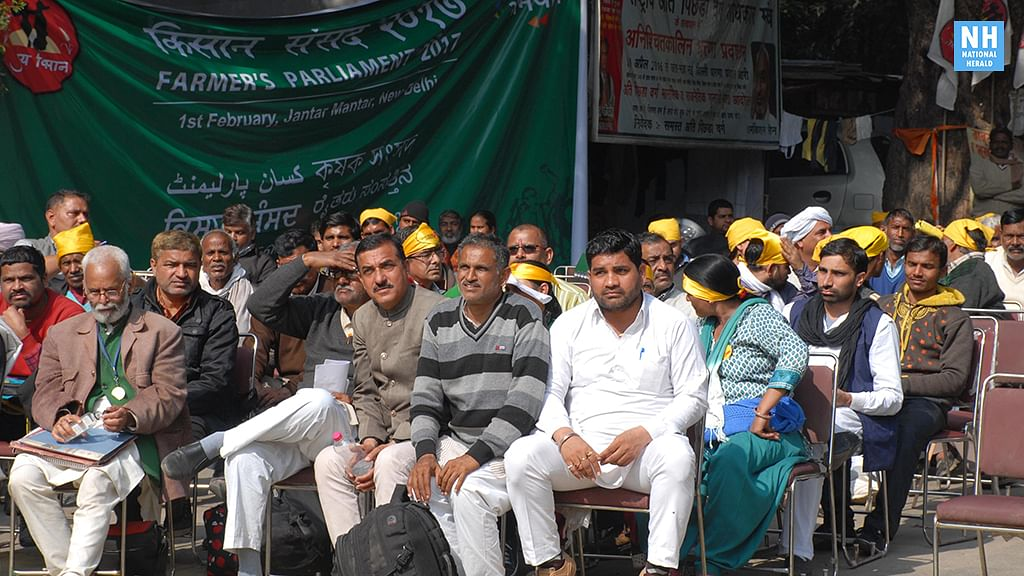 Farmers hold 'Kisan Sansad'  in Delhi, pass own 'Krishi Budget'