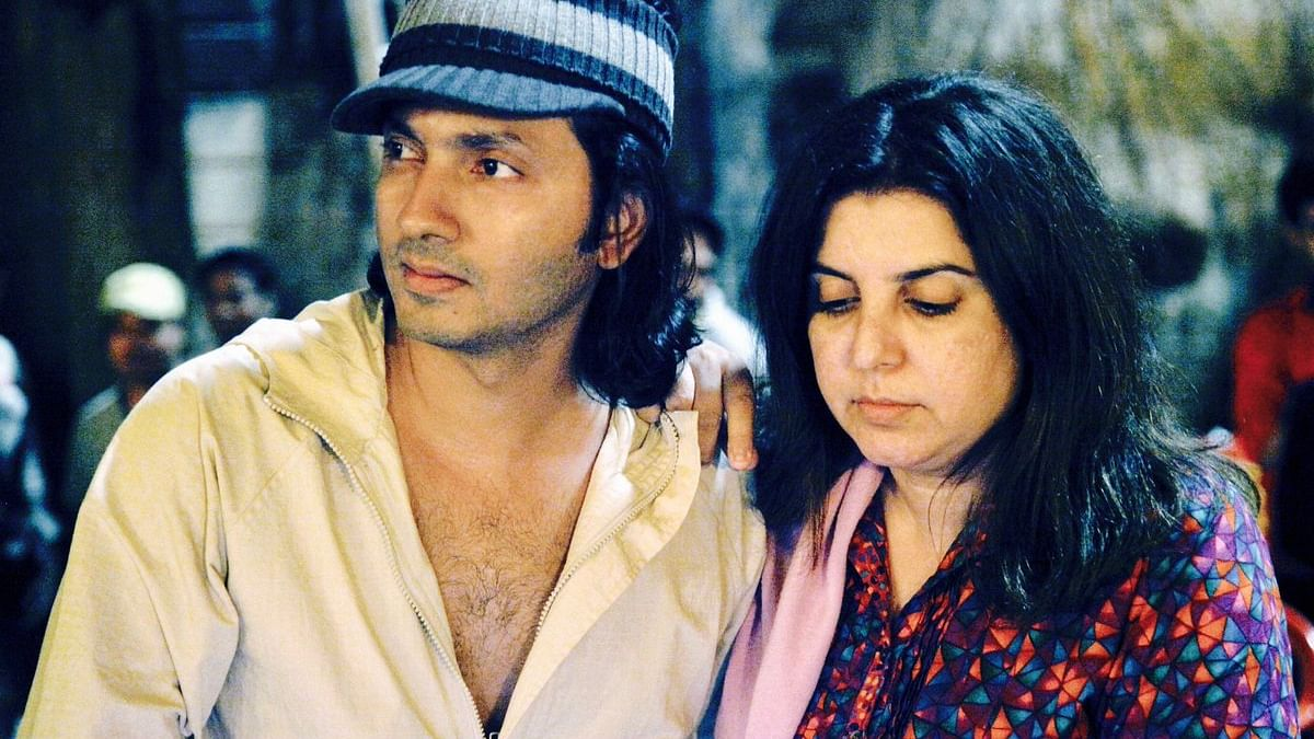 Photo from Twitter of Shirish Kunder with his wife Farah Khan. Kunder tendered apology after an FIR was filed against him alleging that he made derogatory statements against UP chief minister Yogi Adityanath