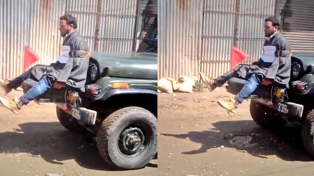 Outrage over Omar's Abdullah's video of army using a human shield