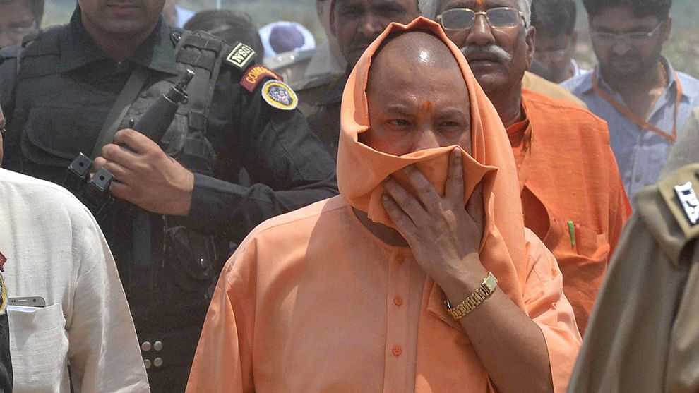 BJP MLA in UP misbehaves with police officer in Gorakhpur