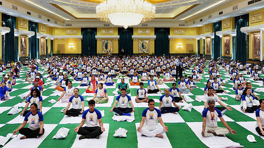 In pics: How India celebrated the International Yoga Day
