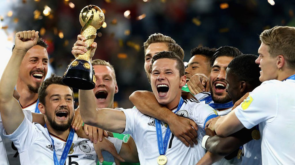 Young Germany defeats spirited Chile, win Confederations Cup