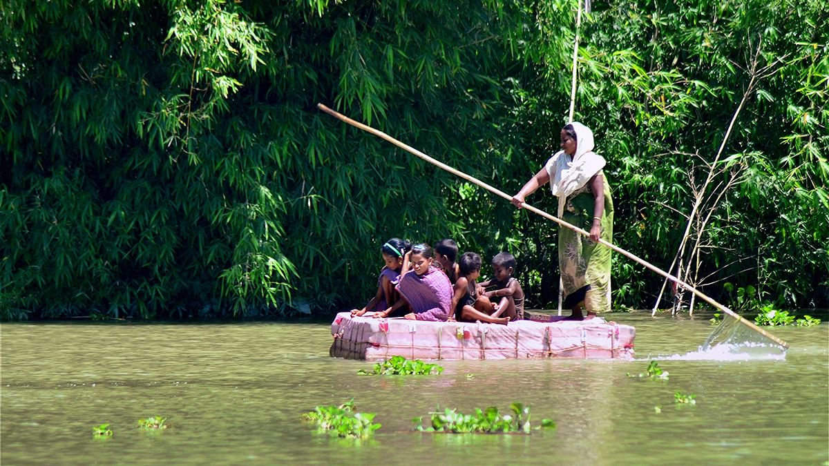 The spread of the Assam flood, leave 4.2 lakh people stranded