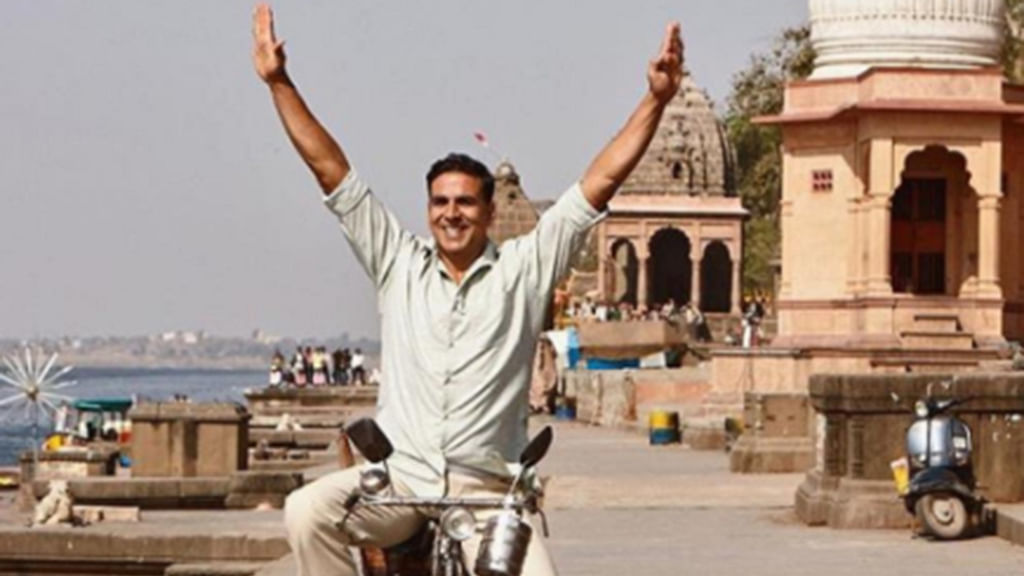 Entertainment:  Twinkle shares poster of Akshay's Padman
