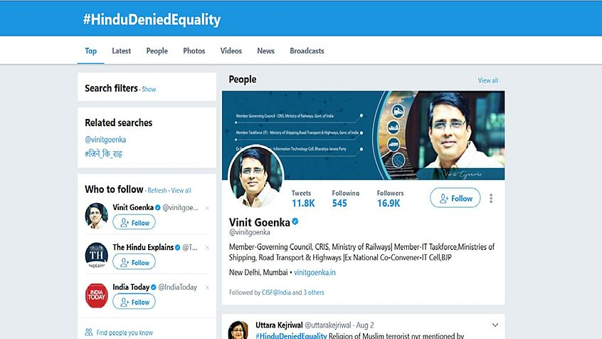 How is BJP's IT Cell creating Twitter hysteria around #HinduDeniedEquality