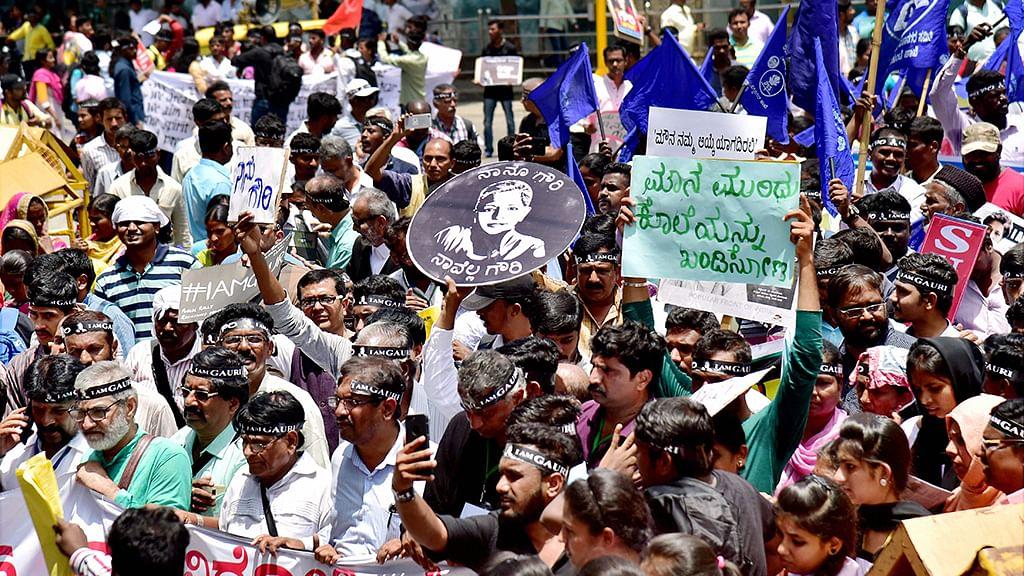 Gauri Lankesh solidarity protest sees massive turnout in hometown