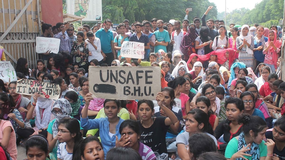 BHU students protest against reinstating guilty professor