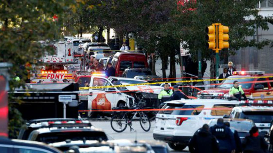 New York attack: Eight killed in 'act of terror'; suspect arrested