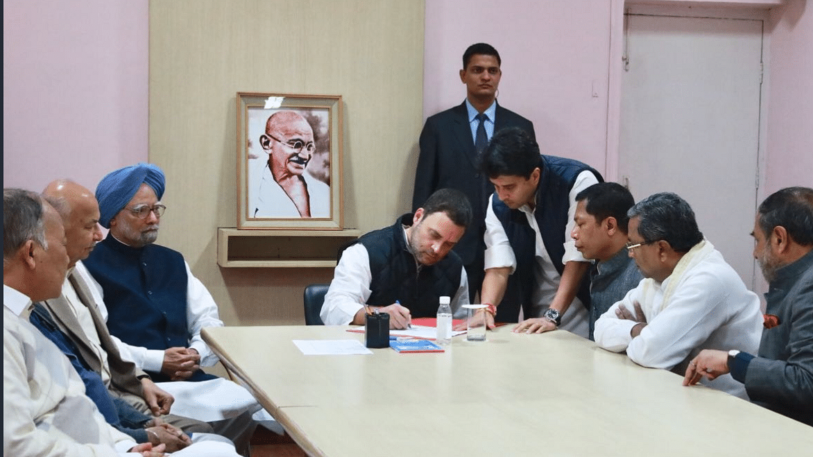 Rahul files nomination for Congress President