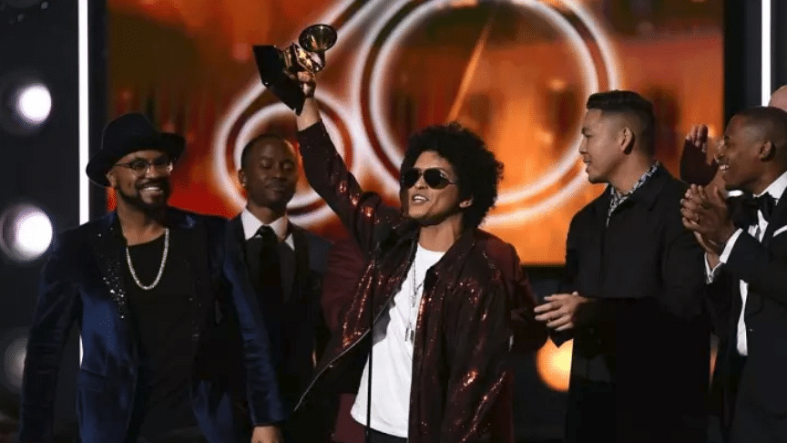 Bruno Mars, Kendrick Lamar win big at politically charged Grammys