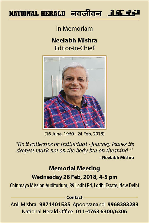 Neelabh Mishra: Tributes, Obituaries and Condolences for our Editor-in-Chief