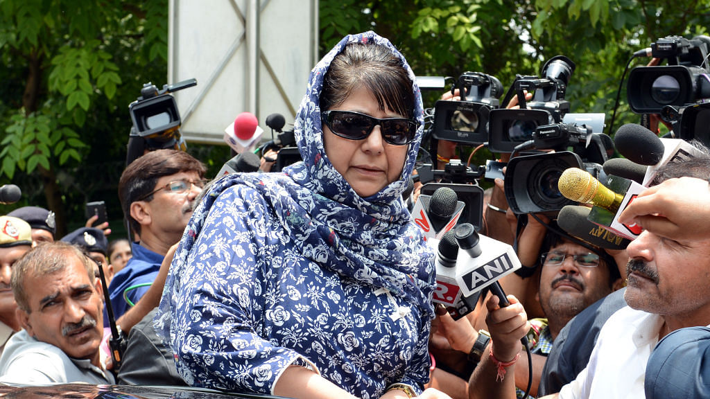 Why is Mehbooba Mufti angry with TV channels?