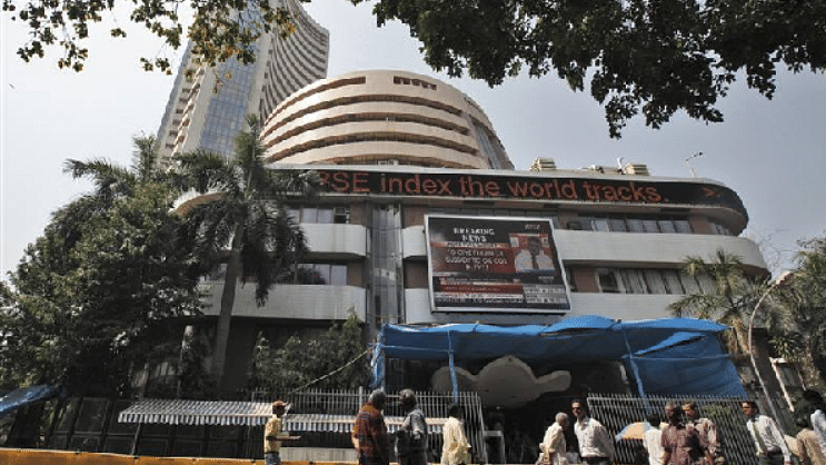 Weak global cues subdue equity indices, Sensex closes below 35k